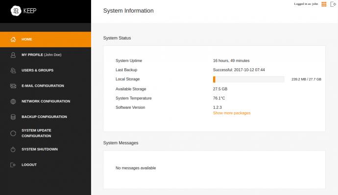 KEEP Software update